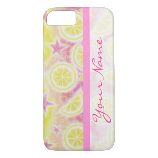 Pink Lemonade 'Name' iPhone 7 barely there case