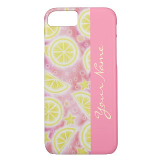 Pink Lemonade 'Name' iPhone 7 case pink