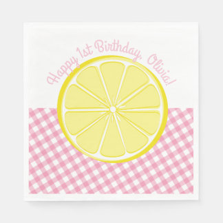 Pink Lemonade Party Napkins Disposable Napkins