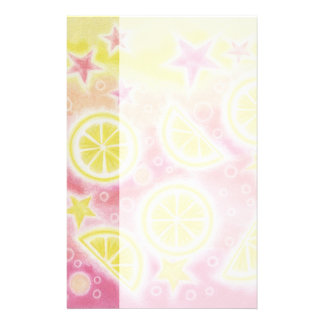 Pink Lemonade stationery side stripe