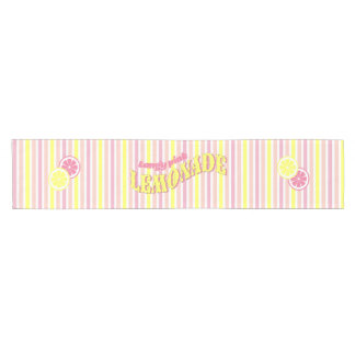 Pink Lemonade, yellow and pink Short Table Runner