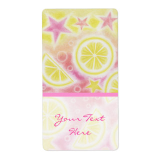 Pink Lemonade 'Your Text' label large stripe