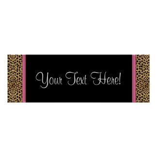 Pink Leopard Baby Shower Banner Poster