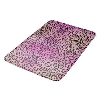 Pink Leopard Cat Animal Oil Paint Effect Bath Mats