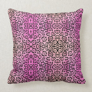 Pink Leopard Cat Animal Oil Paint Effect Cushion