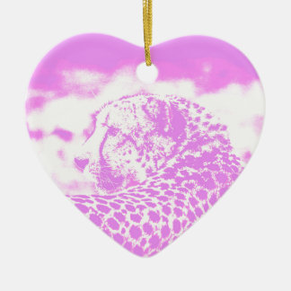 Pink Leopard Christmas Ornament