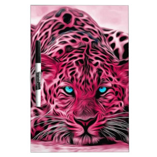 Pink Leopard Dry Erase Board