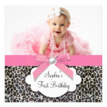 Pink Leopard Girls Photo 1st Birthday Party