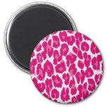 Pink Leopard Magnet