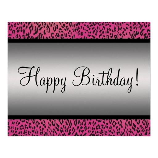 Pink Leopard Party Banner Print