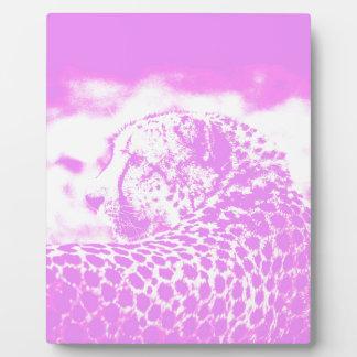 Pink Leopard Plaque