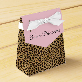 Pink Leopard Princess Baby Shower Favour Box