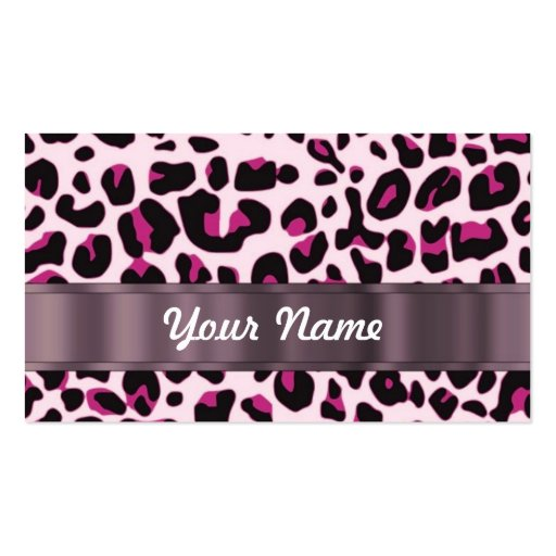 Collections of leopard print business cards business cards pink leopard print business cards reheart Images