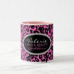 Pink Leopard Print Hair & Beauty (Custom) Mug