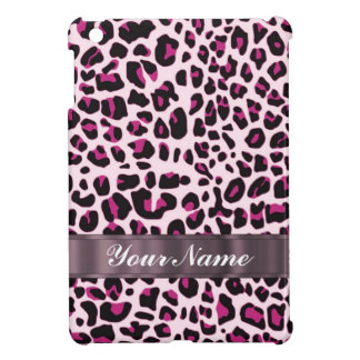 Pink leopard print iPad mini cover