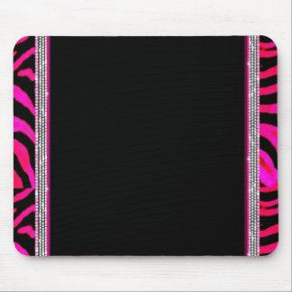 Pink Leopard Print Mouse Mat