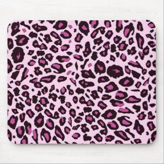 Pink leopard print mousepads