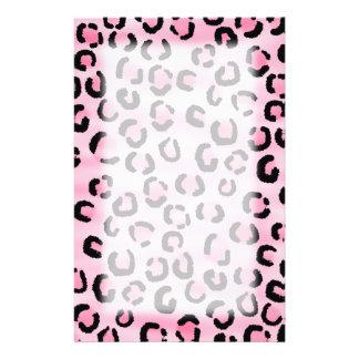 Pink Leopard Print Pattern. Stationery
