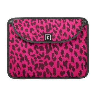 Pink Leopard Print Rickshaw Flap Sleeve for MacBoo Sleeve For MacBook Pro
