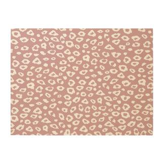 Pink Leopard Print Wood Canvas