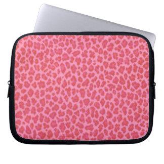 Pink Leopard Skin Laptop Sleeve