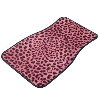 Pink Leopard Skin Pattern Floor Mat