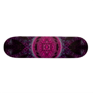 Pink Leopard Sphere Skateboard