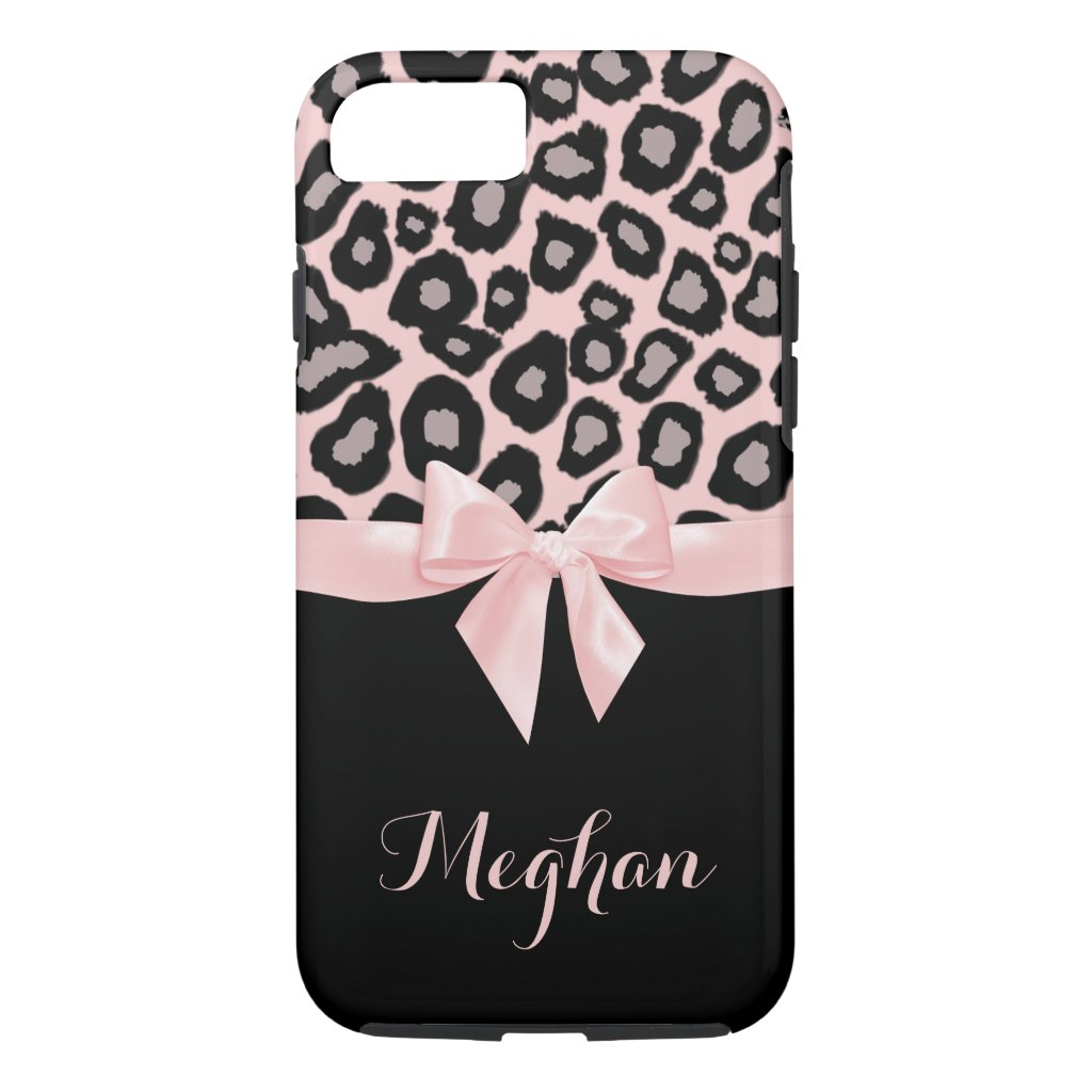 Pink Leopard Spots and Bow