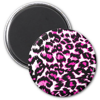 Pink Leopard Spots Fridge Magnets