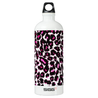 Pink Leopard Spots Pattern Water Bottle