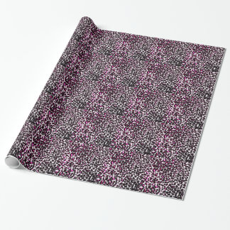 Pink Leopard Spots Pattern Wrapping Paper