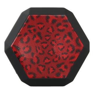 Pink leopard texture pattern. black bluetooth speaker