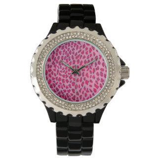 Pink Leopard Wrist Watch