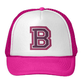 Pink Letter 'B' Monogram Cap