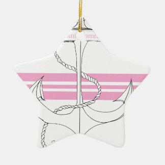 pink lieutenant commander, tony fernandes ceramic star decoration