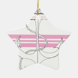 pink lieutenant commander, tony fernandes christmas ornament