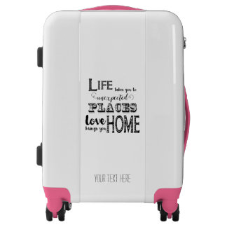 Pink Life Takes You to Unexpected Places Love Home Luggage