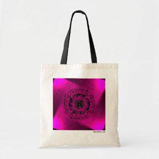 Pink light spiral pattern tote bag