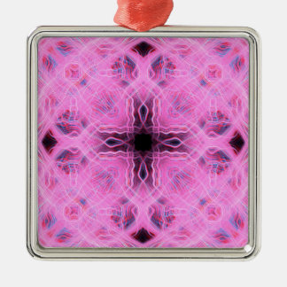 Pink light trails pattern christmas ornament