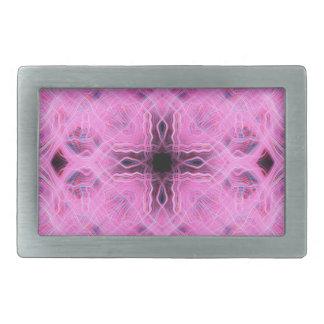 Pink light trails pattern rectangular belt buckles