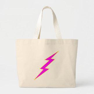 Pink Lightning Bolt Jumbo Tote Bag