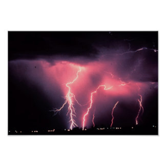 Pink lightning poster