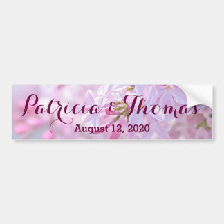 Pink lilac flowers bumper sticker