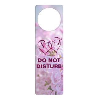 Pink lilac flowers door hangers