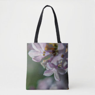 Pink Lilacs Floral Nature Photography Tote Bag