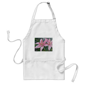 Pink lilies standard apron