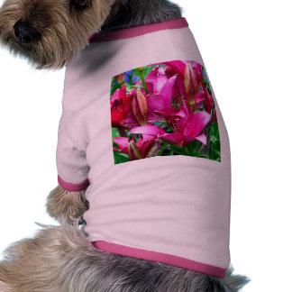 Pink Lilies Doggie Tee