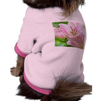 Pink Lilies Pet T Shirt