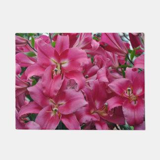 Pink lilies doormat