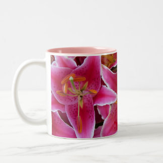 Pink Lilies with Water Droplets Mug